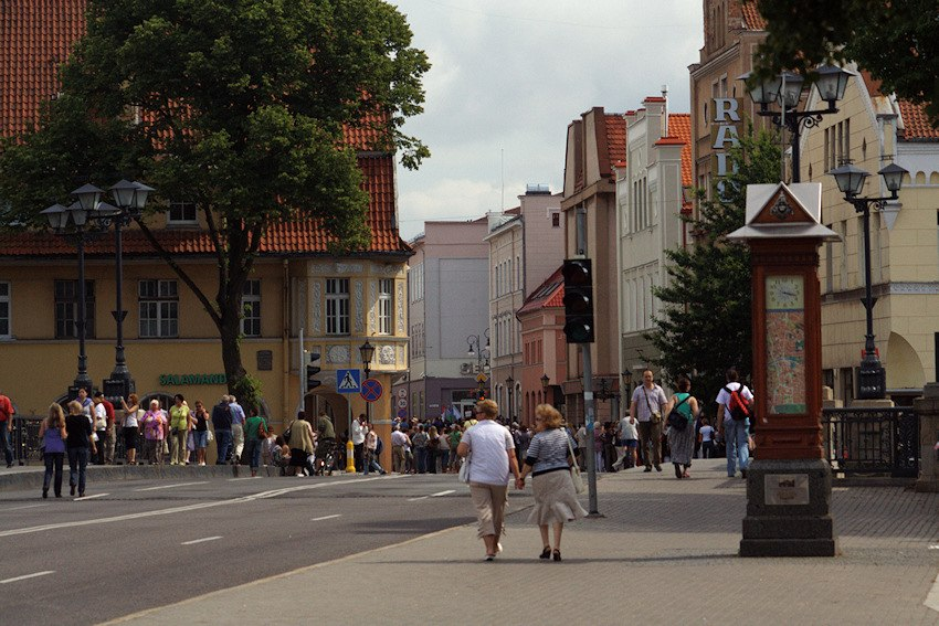 Old town of Klaipeda life