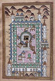 A map of Mecca, circa 1790. Sura Al-Inshirah was revealed in Mecca, around 611 C.E.