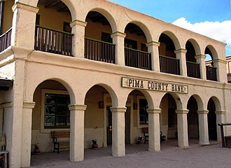 Old Tucson Studios - The fictional Pima County Bank used in the daily bank robbery show