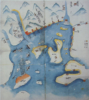 Second Chōshū expedition - Image: Operations map of the Second Choshu Expedition by Sakamoto Ryoma