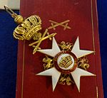 Order of the Crown grand cross with swords badge (Wuerttemberg) - Tallinn Museum of Orders.jpg