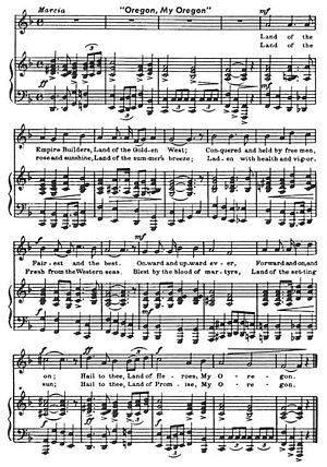 Oregon, My Oregon - Sheet music for Oregon, My Oregon
