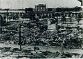 Osaka station disastrous scene of after Great Osaka Air Raid.jpg
