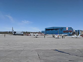 Oshawa Executive Airport - Enterprise apron during the 2018 Girls Take Flight event.