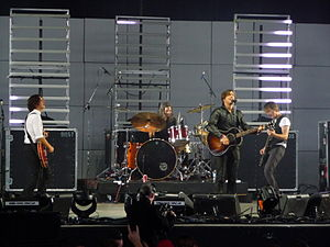 A picture of Our Lady Peace at Virgin Festival...