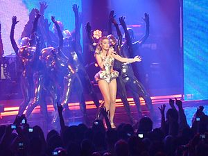 Come into My World - Minogue performing the song during her For You, For Me Tour, 2009.