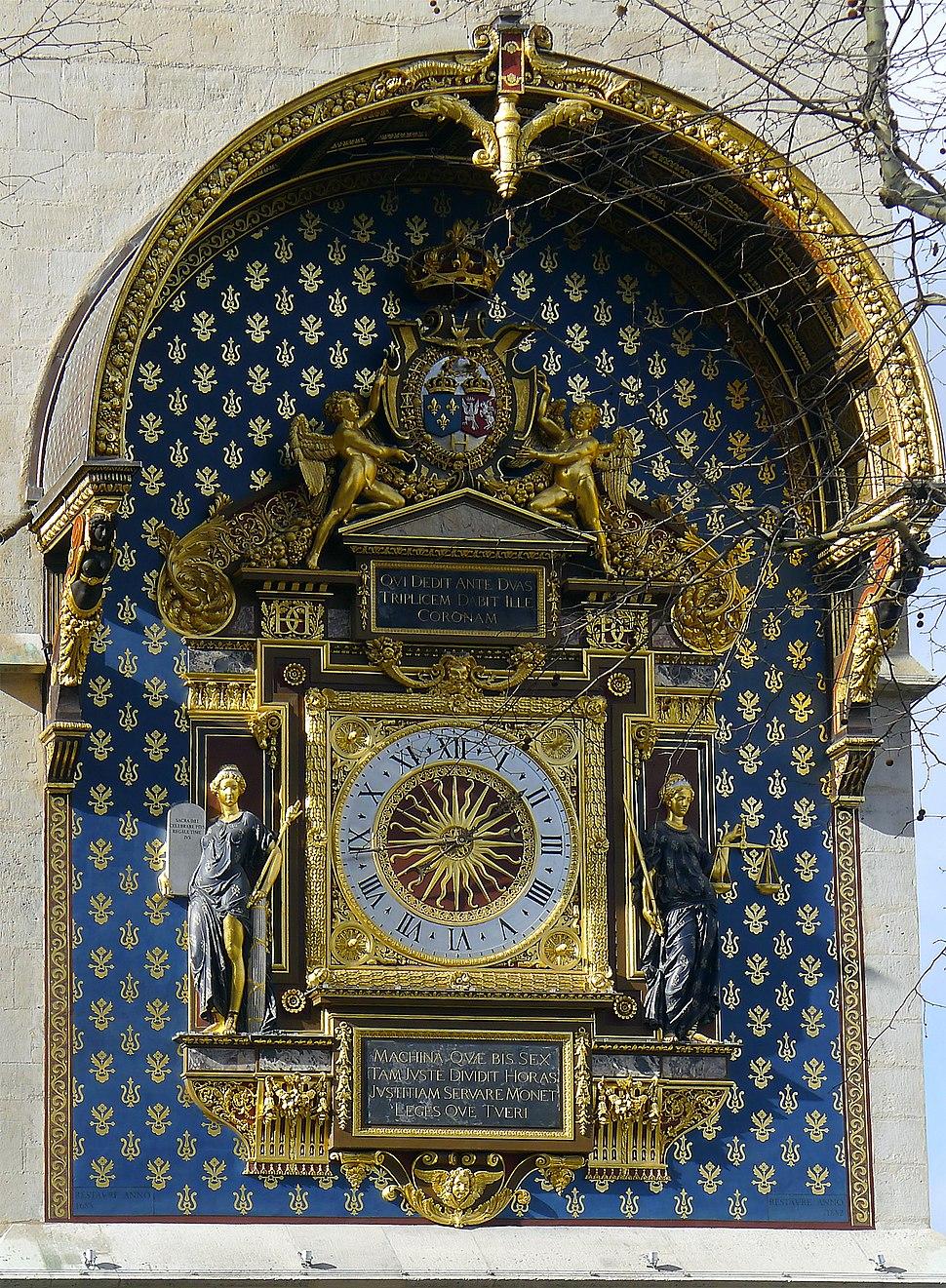 P1160446 Paris Ier Conciergerie Horloge rwk