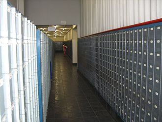 NamPost - post boxes inside the NamPost main building in Windhoek