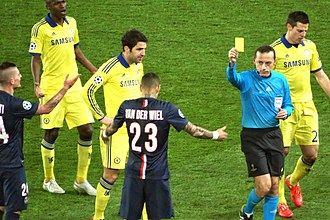 Gregory van der Wiel - Van Der Wiel booked during a 1–1 draw against Chelsea in the UEFA Champions League match
