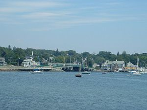 Dartmouth, Massachusetts - The village of Padanaram, with its bridge in the foreground