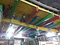 Painted rafters and ceiling in Golden Heart Emporium, Margao, Goa.jpg