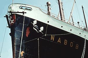 Painting on the port side from the bow of the TS Nabob.jpg