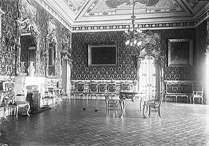 Belém Palace - The Hall of Ambassadors, c. 1905-1915.