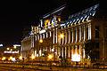 Palatul Justiției, vedere de noapte dinspre Piața Națiunilor.JPG