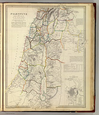 Nablus Sanjak - Palestine with the Hauran and the adjacent districts, William Hughes 1843
