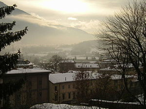 Feltre - Panorama of Feltre in winter.