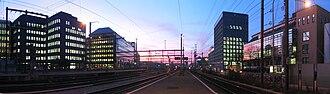 Zürich Altstetten railway station - The station at sunset