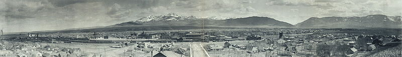 Panoramic view Livingston Montana