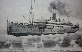 SS Afrique (1907) - Image: Paquebot afrique