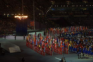 2012 Summer Olympics closing ceremony flag bearers - The parade of all 205 National Olympic Committee flags in the closing ceremony