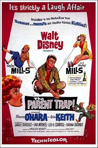 The Parent Trap (1961 film) - Theatrical release poster by Reynold Brown