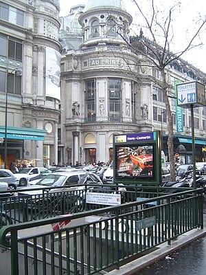 Havre – Caumartin (Paris Métro) - Image: Paris metro 3 havre caumartin entrance 2