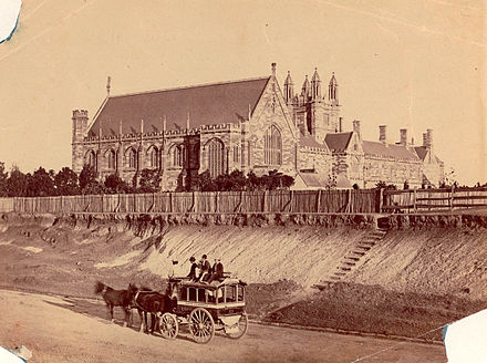 The University of Sydney in the early 1870s, viewed from Parramatta Road Parramattard1870susyd.jpg