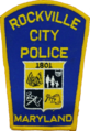 Patch of the Rockville City Police Department (1976).png