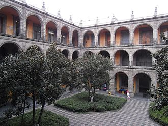 San Ildefonso College - Principal patio of College