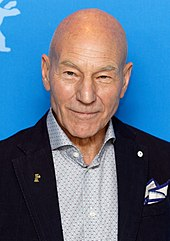 Patrick Stewart at a photo call at the Berlinale 2017.