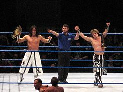 Paul London and Brian Kendrick 7dec2006.jpg