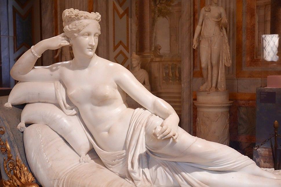 Pauline Bonaparte as Venus Victrix by Antonio Canova, Galleria Borghese (45589962615)