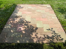 Concrete Paver Blocks In A Rectangular Pattern