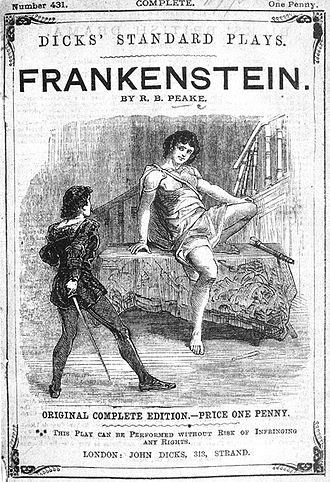 Presumption; or, the Fate of Frankenstein - Cover of Peakes' Presumption; or, the Fate of Frankenstein (1823)