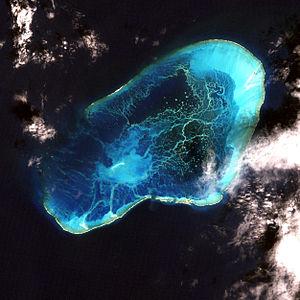 Satellitenbild des Pearl-und-Hermes-Atolls