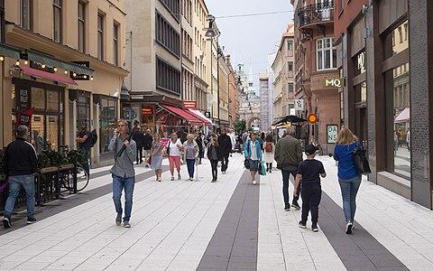 Pedestrian street in Stockholm
