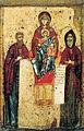 Pecherskaya (Svenskaya) with SS.Antonius and Feodosius (13 c, Tretyakov gallery).jpg