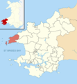 Pembrokeshire UK wards - St Davids locator.png