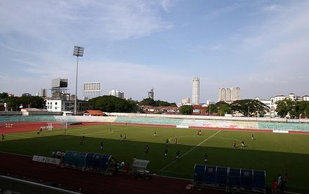 The City Stadium in George Town was the site where Mohd Faiz Subri scored the goal that won him the FIFA Puskas Award in 2017. Penang City Stadium.jpg