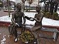 Pencho Slaveikov and Mara Belcheva monument in Sevlievo.jpg