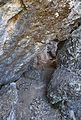 Penyes Blanques de Llíber, pas entre roques.JPG