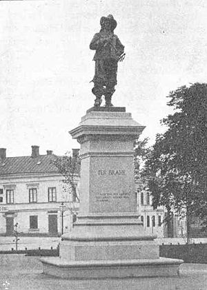 Per Brahe Statue - The statue in the early 1900s.