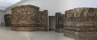 Qasr Al-Mshatta - The facade of Qasr Mushatta now located in Berlin at the Pergamon Museum