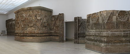 Section of the Umayyad-era Mshatta Facade, now in the Pergamon Museum in Berlin, from a palace near Amman Pergamon Museum Berlin P3.jpg
