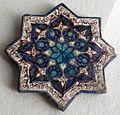 Persia, mattonella a forma di stella, XIII sec.JPG