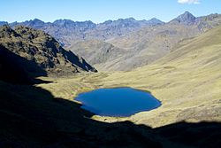 The lake Qiwñaqucha in the Calca Province