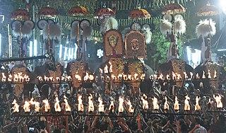 Peruvanam Pooram Place in Kerala, India