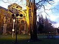 Peterborough, the cathedral at dusk - geograph.org.uk - 1605543.jpg