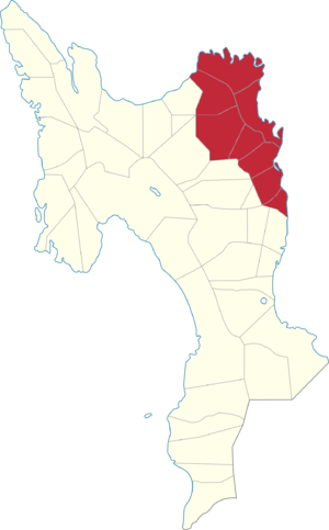 Legislative districts of Leyte - Map of the current 1st District of Leyte