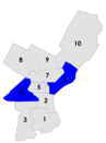 Philadelphia city council districts 1960.png